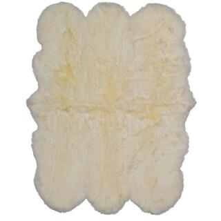 ecarpetgallery Handmade Sheepskin Ivory Wool Rug (5' x 6')