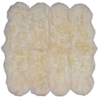 ecarpetgallery Handmade Sheepskin Ivory Wool Rug (6' x 6')