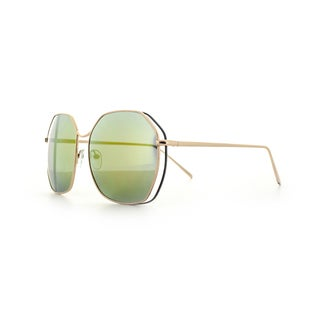 Epic Eyewear Double-wired Geo-frame UV400 Aviator Sunglasses