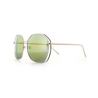 Epic Eyewear Double-wired Geo-frame UV400 Aviator Sunglasses