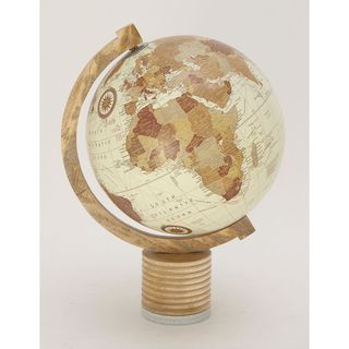 Attractive Wood Marble Metal Globe