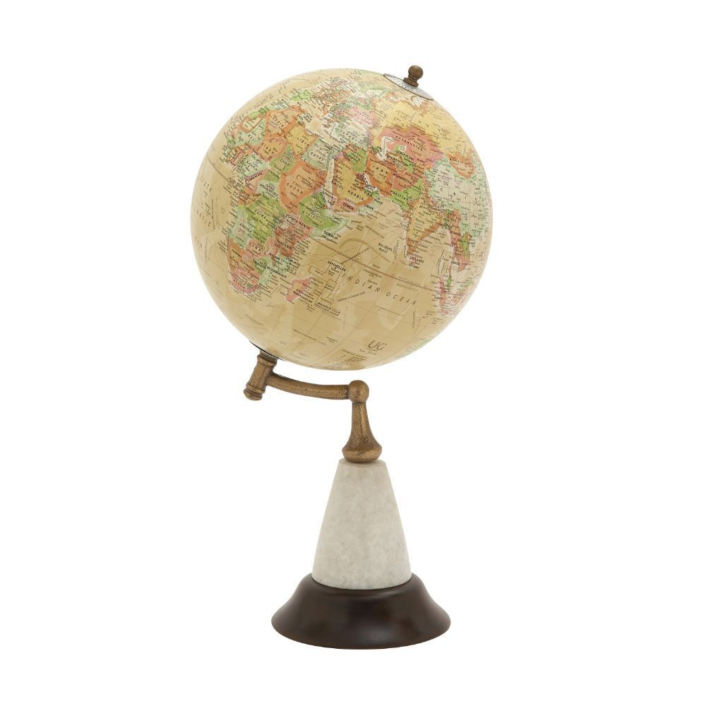 Amazing Wood Metal Marble Globe