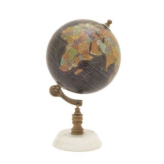 Fantastic Wood Metal Marble Globe