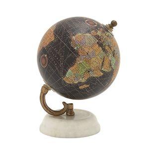 94446 Classy Wood Metal Marble Globe