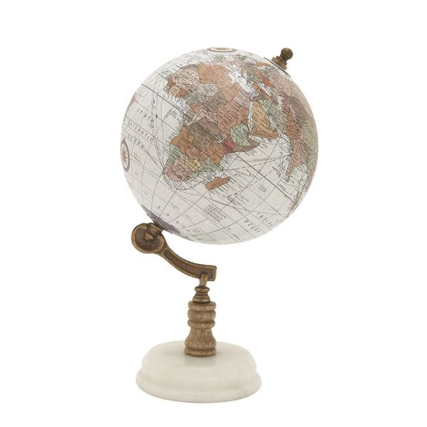 94449 Classy Wood Metal Marble Globe. Opens flyout.
