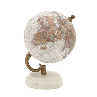 Marvelous Wood Metal Marble Globe