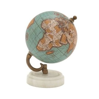 94444 Attractive Wood Metal Marble Globe