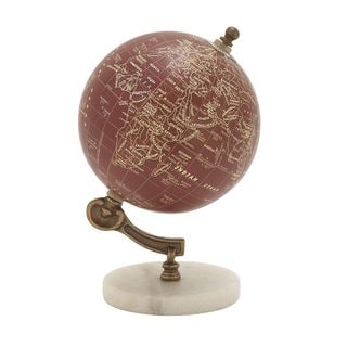 Fancy Wood Metal Marble Globe