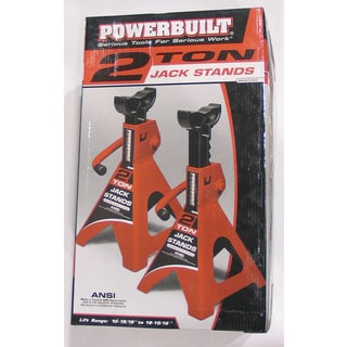 Powerbuilt 640399 2-ton Heavy Duty Jack Stands