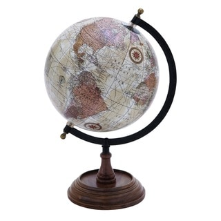 Copper Grove Stoneham Wooden and Metal Globe