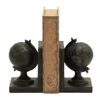 Copper Grove Chatfield World Globe Themed Book End Set