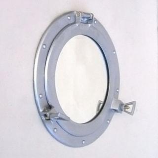 Porthole Aluminum Frame 12-inch Wall Mirror