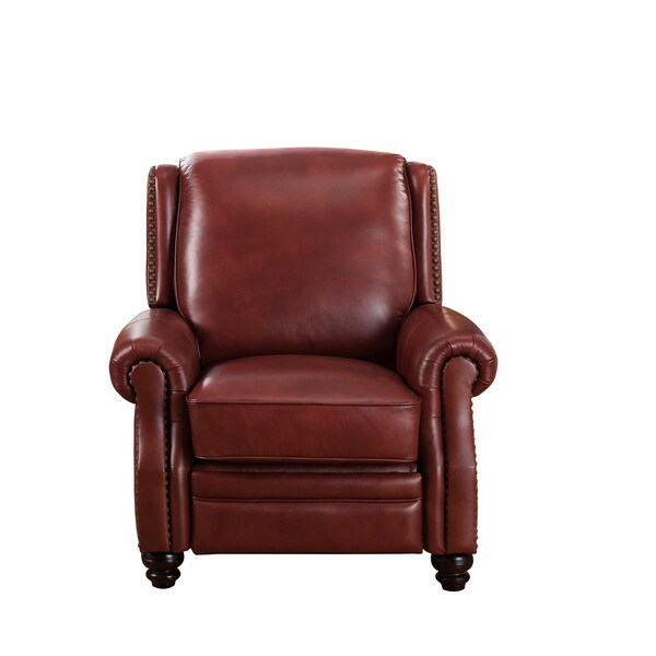 Red Leather Reclining Chair bismack vintage red premium top grain leather recliner chair