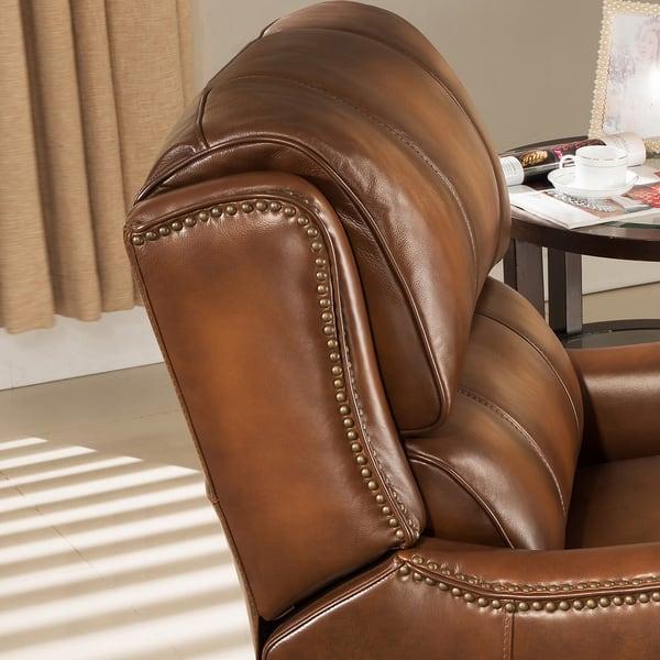 Brilliant Shop Lowry Vintage Brown Premium Top Grain Leather Recliner Bralicious Painted Fabric Chair Ideas Braliciousco