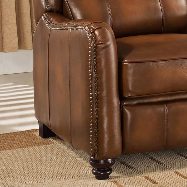 Stupendous Shop Lowry Vintage Brown Premium Top Grain Leather Recliner Bralicious Painted Fabric Chair Ideas Braliciousco