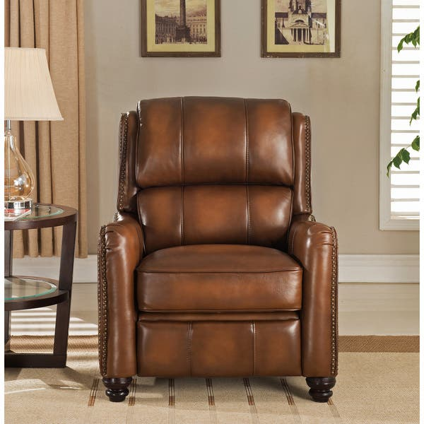 Marvelous Shop Lowry Vintage Brown Premium Top Grain Leather Recliner Bralicious Painted Fabric Chair Ideas Braliciousco