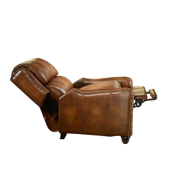 Excellent Shop Lowry Vintage Brown Premium Top Grain Leather Recliner Bralicious Painted Fabric Chair Ideas Braliciousco