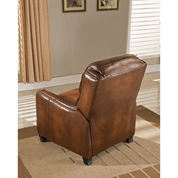 Astonishing Shop Lowry Vintage Brown Premium Top Grain Leather Recliner Bralicious Painted Fabric Chair Ideas Braliciousco