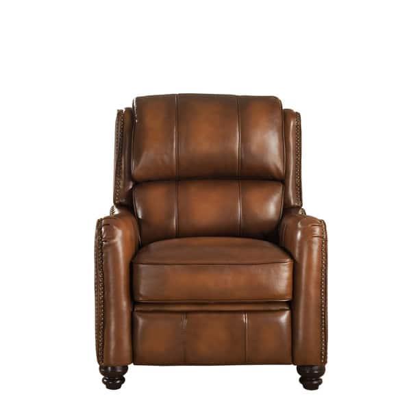 Fantastic Shop Lowry Vintage Brown Premium Top Grain Leather Recliner Bralicious Painted Fabric Chair Ideas Braliciousco