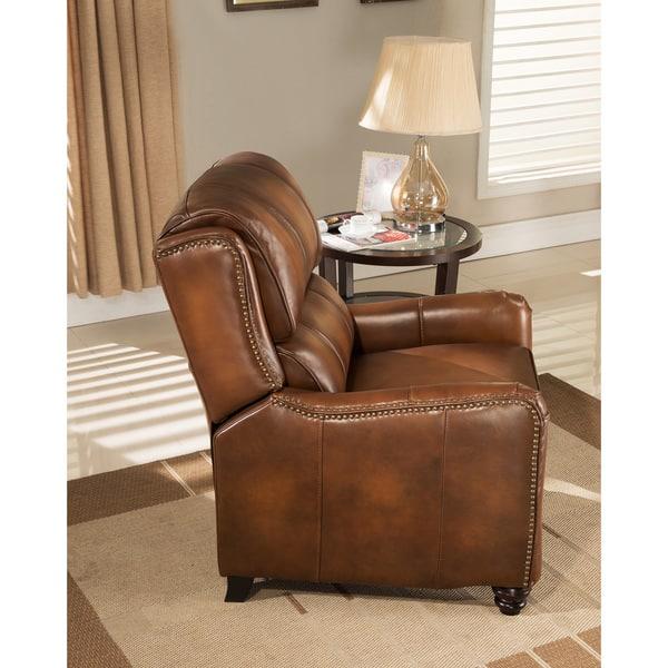 Astounding Shop Lowry Vintage Brown Premium Top Grain Leather Recliner Bralicious Painted Fabric Chair Ideas Braliciousco