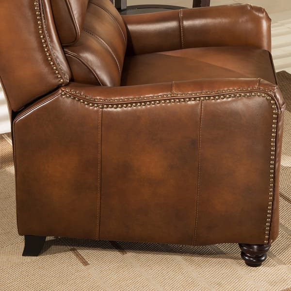 Pleasant Shop Lowry Vintage Brown Premium Top Grain Leather Recliner Bralicious Painted Fabric Chair Ideas Braliciousco