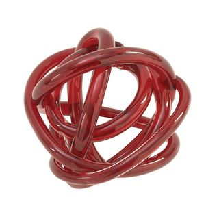 Outstanding Glass Knots Red