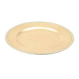 Simple Beads Charger Plate Gold (Set of 24)