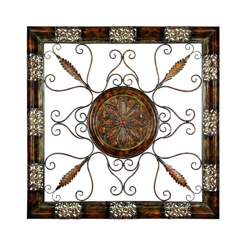 Studio 350 Metal Wall Plaque 45 inches high, 45 inches wide