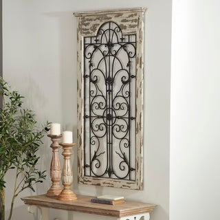 Link to Rustic 51 Inch Distressed Arched Window Style Wall Panel by Studio 350 Similar Items in Wall Sculptures