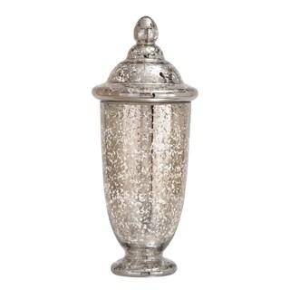 Stylish And Unique Glass Jar With Mercury Finish