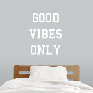 Good Vibes Only Wall Decal (28-inch wide x 36-inch tall)