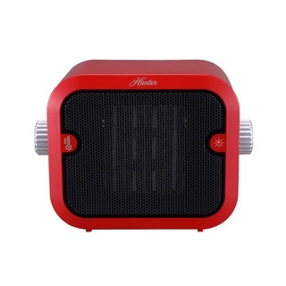Hunter 1500W Retro Red Ceramic Space Heater