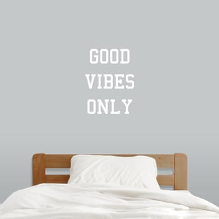 Good Vibes Only Wall Decal (18-inch wide x 24-inch tall)