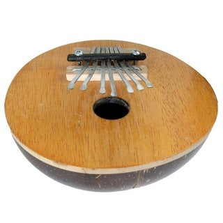 Fair Trade Hand Crafted Wood & Coconut Shell Thumb Piano