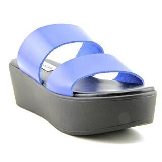 Steve Madden Women's 'Flyer' Blue Leather Sandals