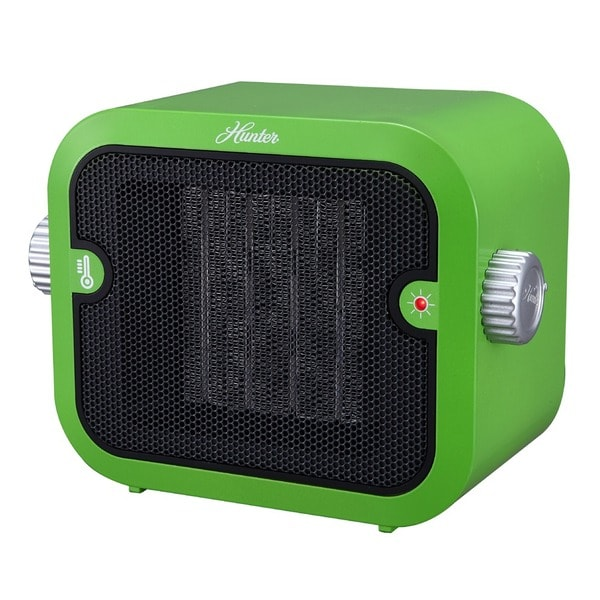 Hunter 1500W Retro Green Ceramic Space Heater