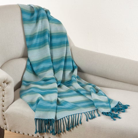 Woven Design Rayon From Bamboo Throw - Multi-color