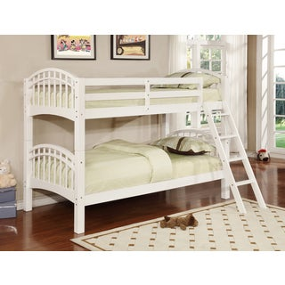 Flynn Wood Twin Over Twin Bunk Bed