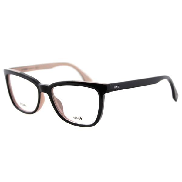 Fendi FF 0122 MG1 Black on Pink Plastic 53mm Eyeglasses