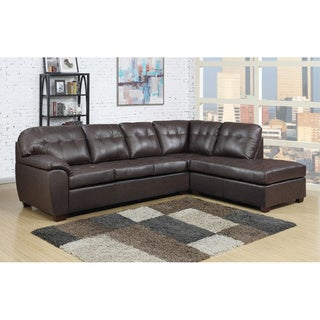 Picket House Calvin 2pc Sectional in Brown