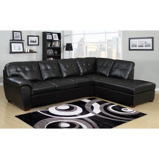 Picket House Calvin 2pc Sectional in Black