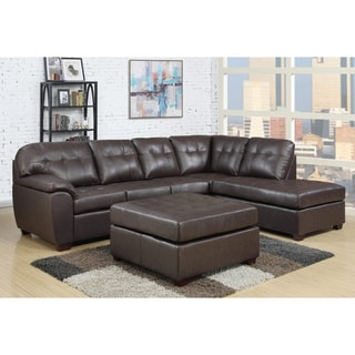 Picket House Calvin 3pc Sectional in Brown