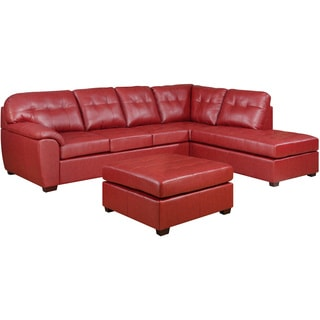 Picket House Calvin 3pc Sectional in Red