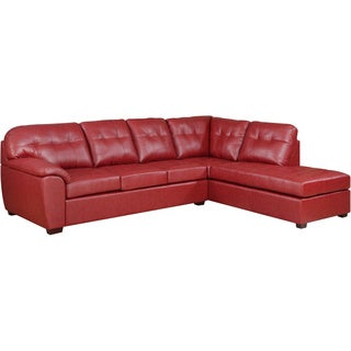 Picket House Calvin 2pc Sectional in Red