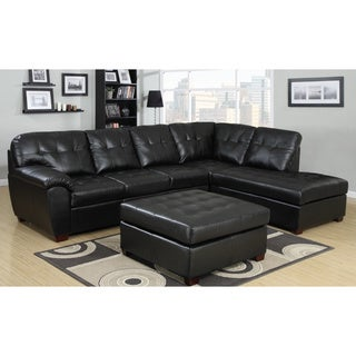 Picket House Calvin 3pc Sectional in Black