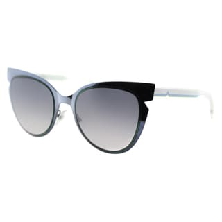 Fendi FF 0133 NPY Blue And Emerald Cream Metal Grey Gradient Lens Sunglasses