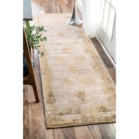 Maison Rouge Tabrizi Handmade Distressed Abstract Vintage Sand Runner Rug (2'6 x 8')