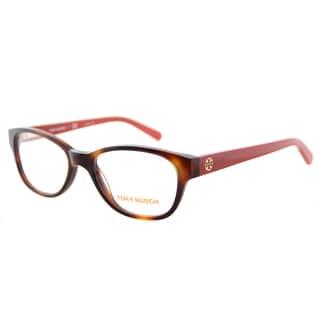 Tory Burch TY 2031 1162 Tortoise on Logo Print Plastic Cat-Eye 51mm Eyeglasses