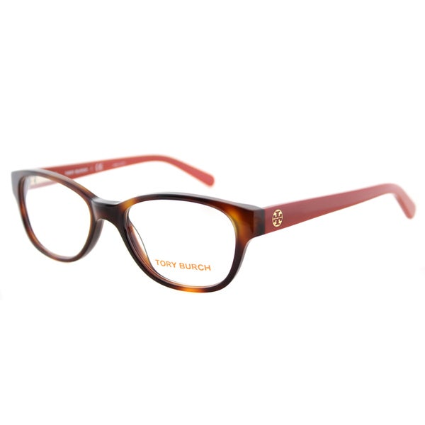 4180dc5352acc Tory Burch TY 2031 1162 Tortoise on Logo Print Plastic Cat-Eye 51mm  Eyeglasses
