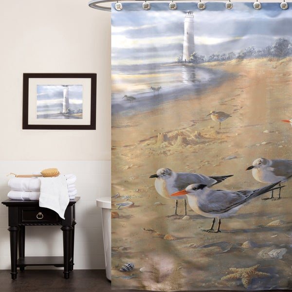 'Sunset Beach' Shower Curtain and Hooks Set or Separates